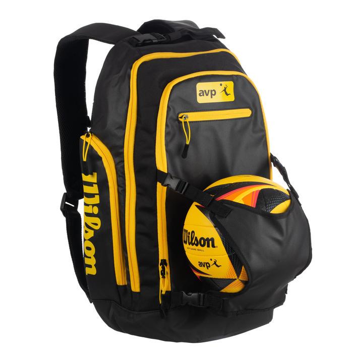 Sac à dos de beach-volley noir et jaune