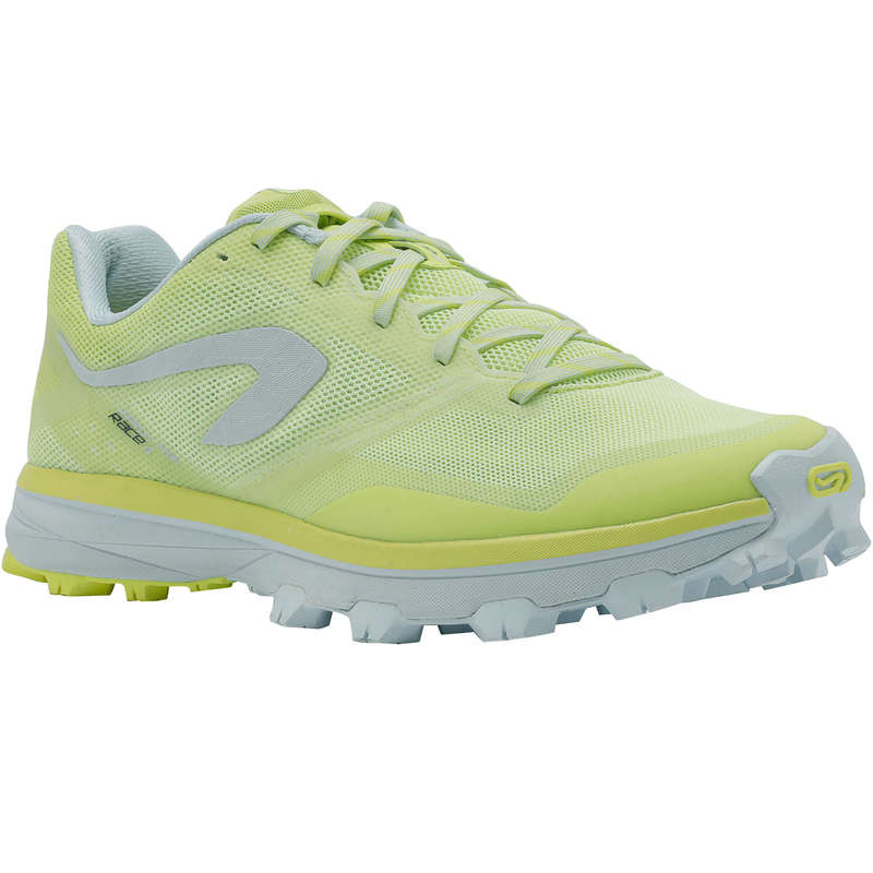 WOMAN TRAIL RUNNING SHOES Nordic Walking - TRAIL RACE 4 W YELLOW/WHITE EVADICT - Sports