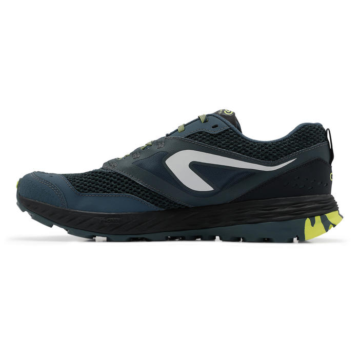 KIPRUN TR MEN'S TRAIL RUNNING SHOES - DARK BLUE/YELLOW
