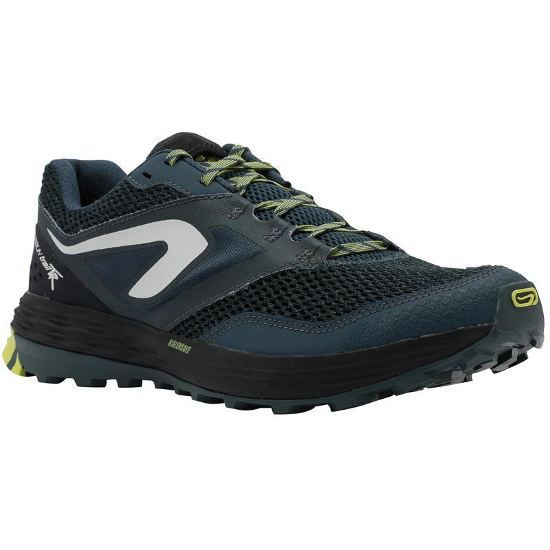 Tenis trail running para hombre TR azul oscuro/amarillo