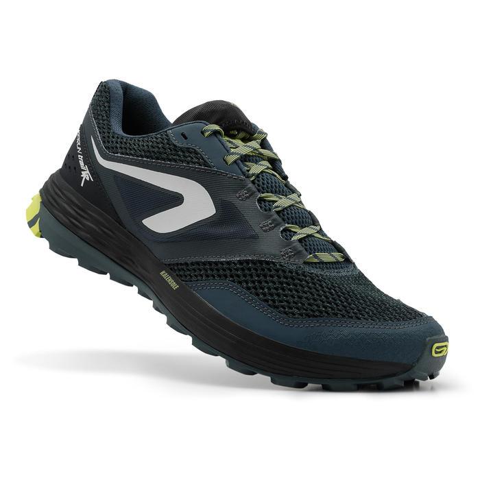 Zapatillas trail running para hombre TR azul oscuro/amarillo