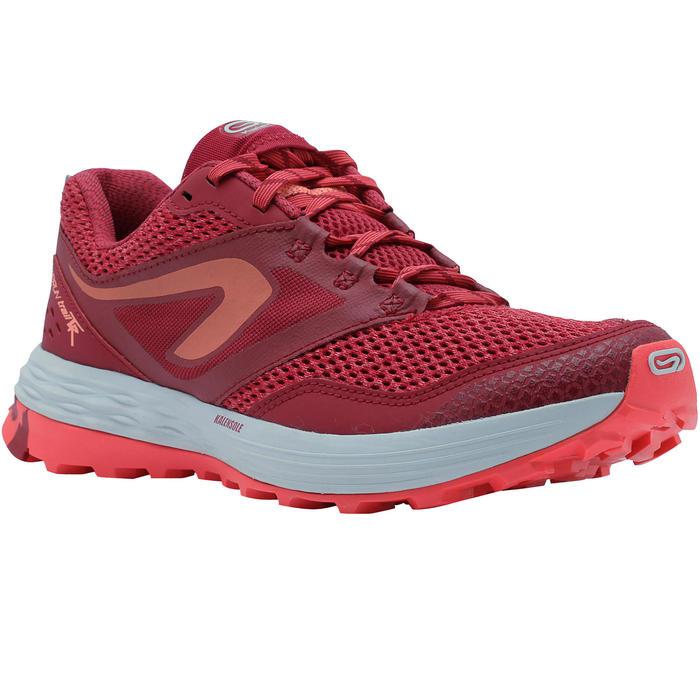 Zapatillas de trail running para mujer TR rosa y blanco