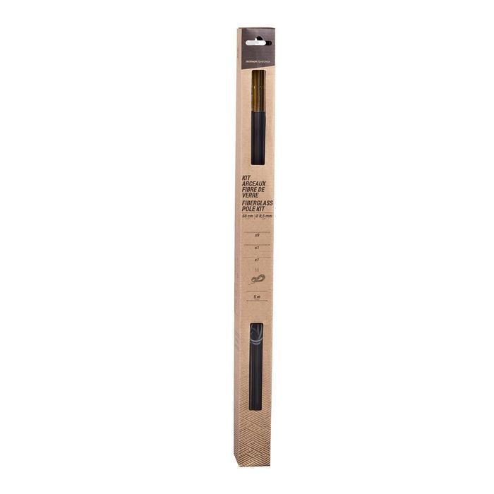 COMPLETE FIBERGLASS TENT-POLE KIT FOR TENTS - DIAMETER 8.5 MM