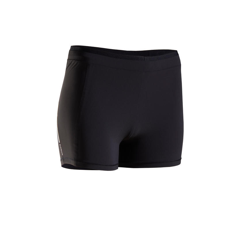 KIPRUN WOMEN'S RUNNING BOXER BRIEFS - BLACK