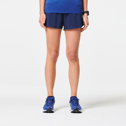 SHORT RUNNING FEMME LÉGER KIPRUN LIGHT BLEU MARINE