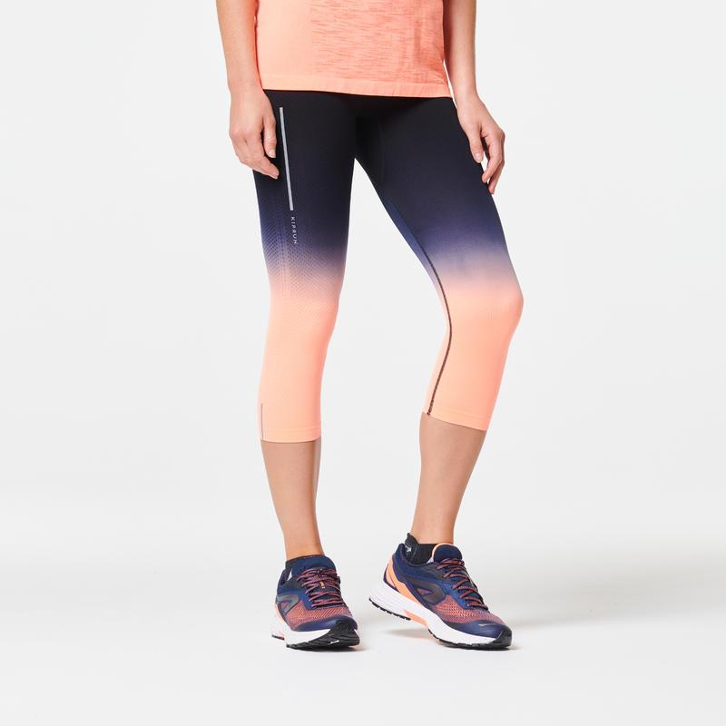 WOMEN'S RUNNING CROPPED BOTTOMS KIPRUN CARE - LIGHT CORAL
