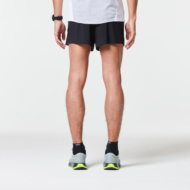 KIPRUN LIGHT + MEN'S RUNNING SHORTS - BLACK