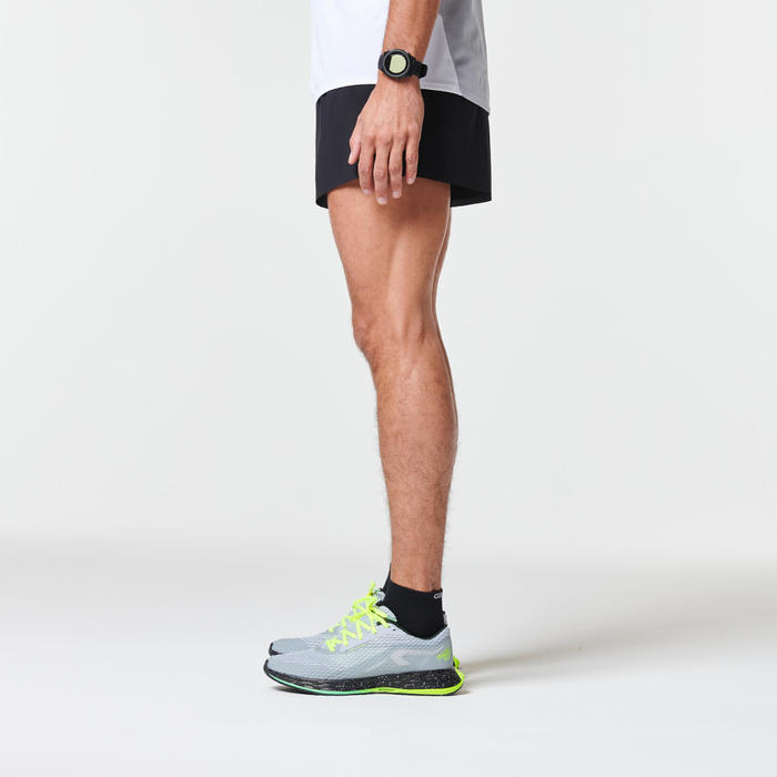 KIPRUN LIGHT + MEN'S RUNNING SHORTS - BLACK