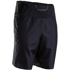 KIPRUN MEN'S MARATHON RUNNING SHORTS WITH CARRY POCKETS - BLACK