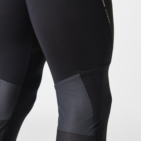 KIPRUN DRY MEN'S BREATHABLE RUNNING TIGHTS - BLACK