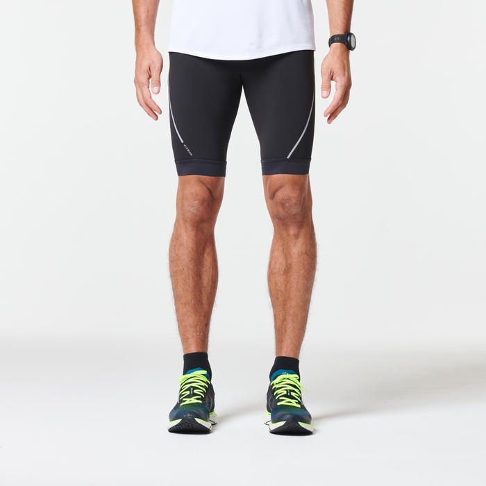 KIPRUN MEN'S RUNNING TIGHT SHORTS - BLACK