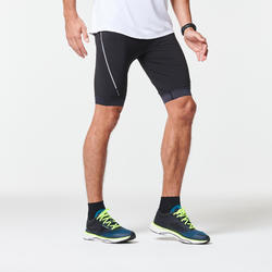 男款跑步緊身短褲KIPRUN - 黑色