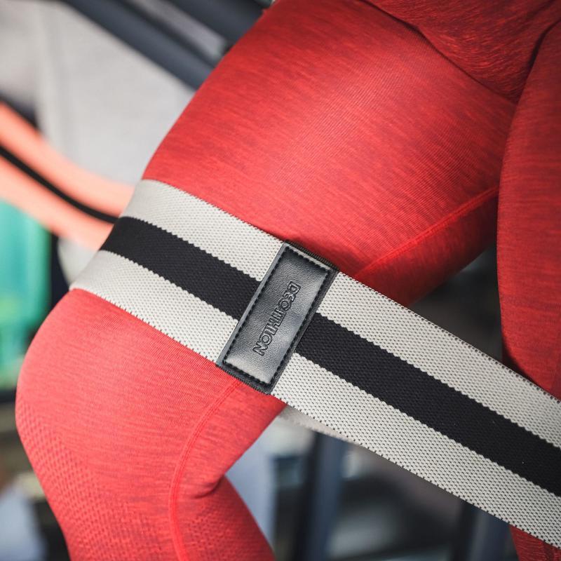 Strength Training Resistance Band Glute Band - Medium - Grey