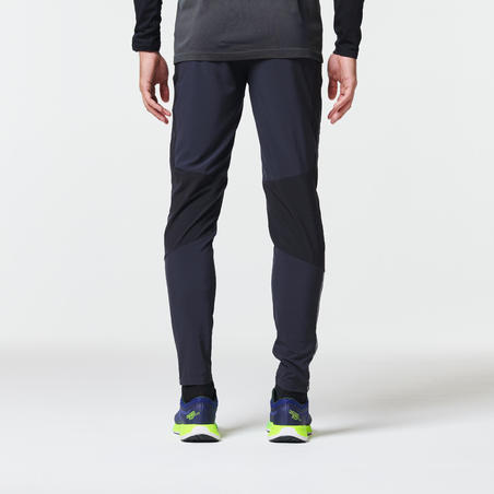 Men's Fitted Running Trousers Light Black - Kiprun