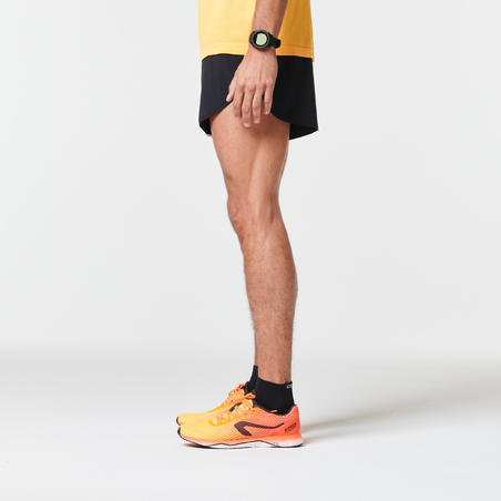 Short de Atletismo Kiprun Split Negro Gris