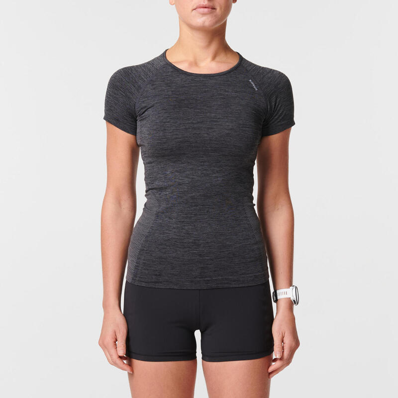 Dámské běžecké tričko Skincare černé