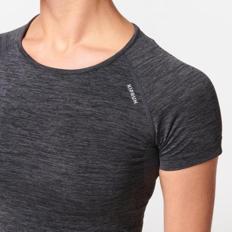 迪卡儂女款無縫透氣跑步緊身T恤