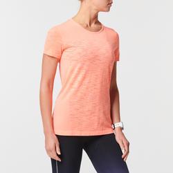 Camiseta Manga Corta Running Kiprun Care Transpirable Mujer Naranja