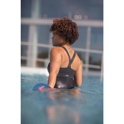 Maillot de bain une pièce d'Aquafitness femme Anna noir square