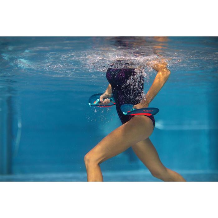 Maillot de bain une pièce d'Aquafitness femme Anna all rib bleu