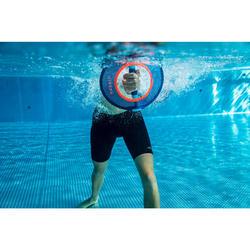 Twee halters voor aquagym of aquafitness Pullpush mesh blauw oranje