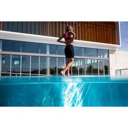 Parte inferior de bañador short jammer de aquafitness mujer Anna negro