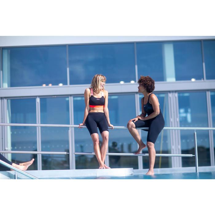 Haut de maillot de bain d'Aquafitness femme Anna noir orange