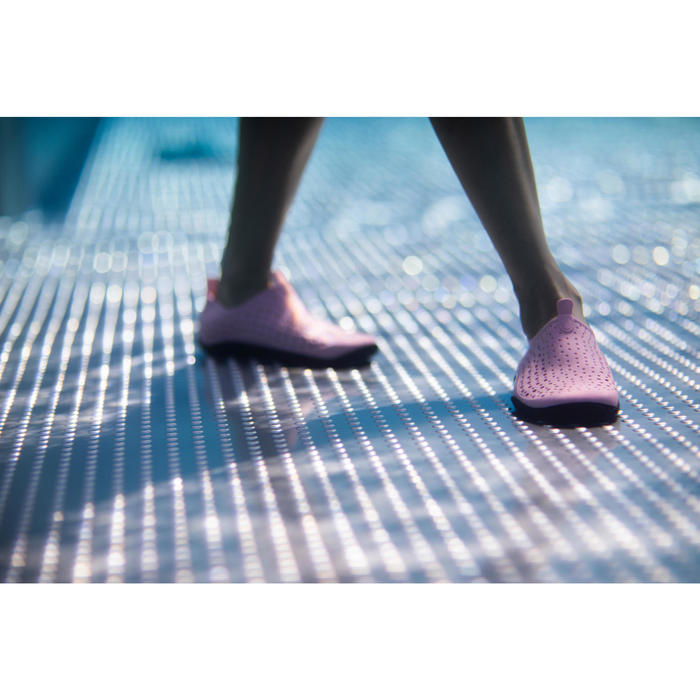 Waterschoentjes voor aquagym/aquabike/aquafitness Aquadots roze