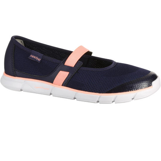Damesballerina's Soft 520 voor sportief wandelen marineblauw/koraal - 176437