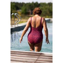 Maillot de bain femme une pièce d'Aquagym Mika Atch Noir orange