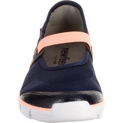 Damesballerina's Soft 520 voor sportief wandelen marineblauw/koraal - 176441
