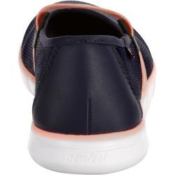 Damesballerina's Soft 520 voor sportief wandelen marineblauw/koraal - 176442