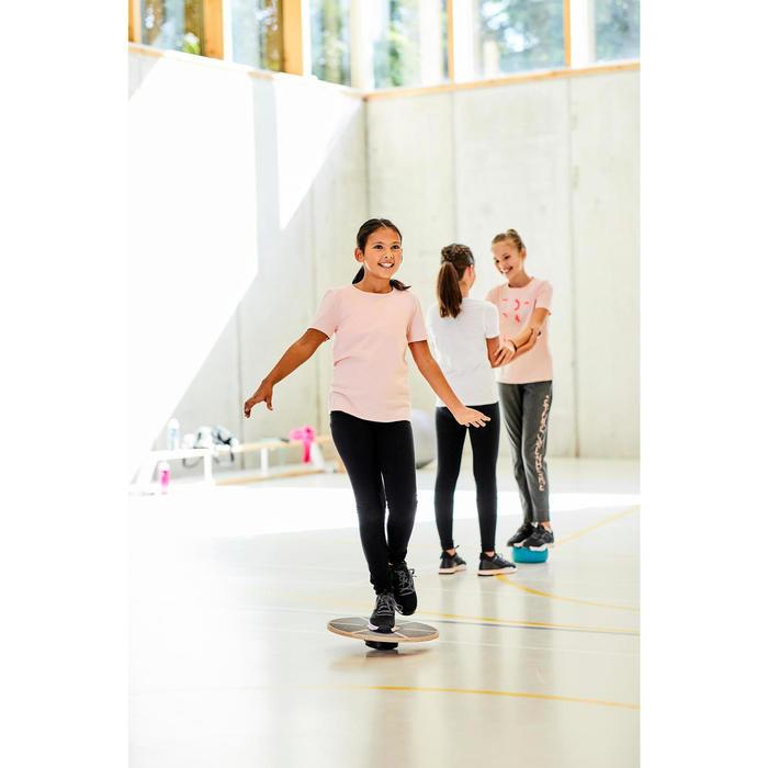 女童健身短袖T恤100 - 白色印花