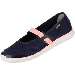 女款健走芭蕾舞鞋Soft 520 - 海軍藍/珊瑚紅