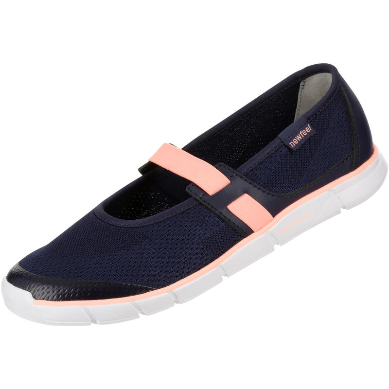 Soft 520 Women's Fitness Walking Ballerina Pumps - Navy/Coral