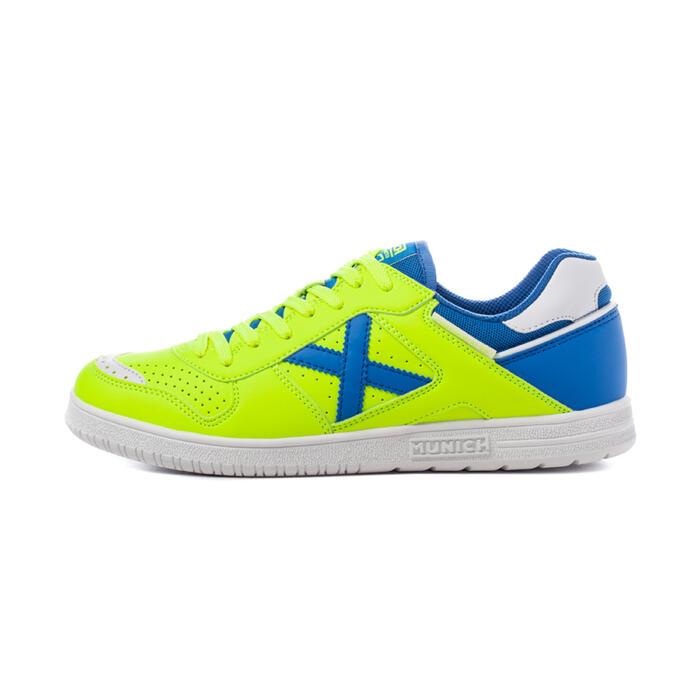 Zaalvoetbalschoenen voor volwassenen V2 geel/blauw