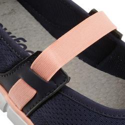Damesballerina's Soft 520 voor sportief wandelen marineblauw/koraal - 176451