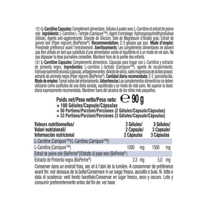 L-Carnitine Body Shaper 100 capsules