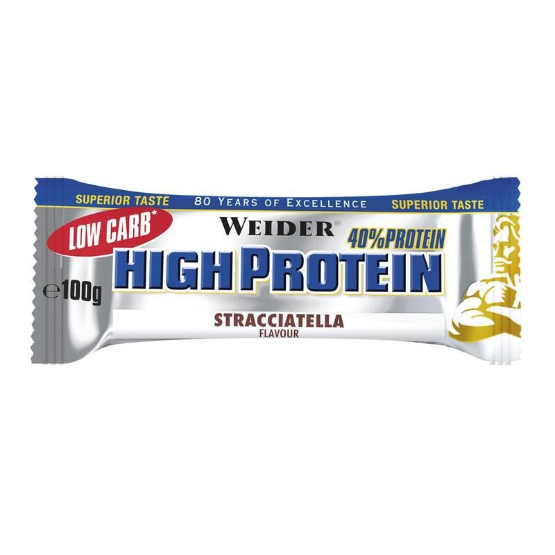 PROTEINY / DOPLŇKY STRAVY Proteiny a gainery - TYČINKA LOW CARB 100 G WEIDER - Proteiny a gainery