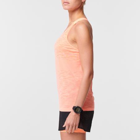 Camisole de course à pied Kiprun Care Corail avec soutien-gorge intégré – Femmes
