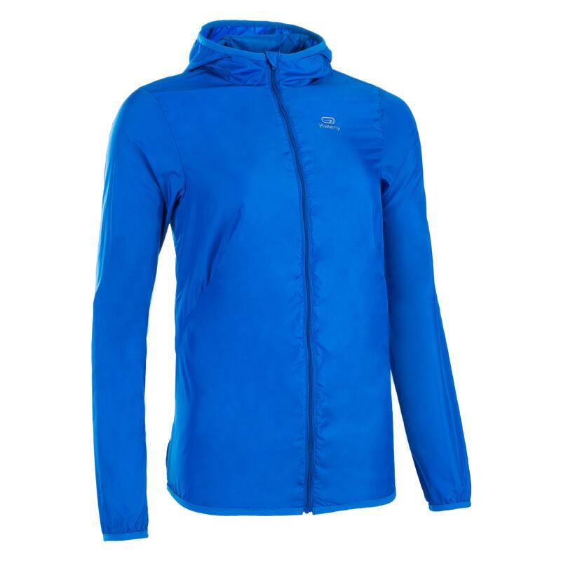 Giacca antivento atletica donna personalizzabile azzurra