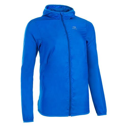 Veste athlétisme coupe vent femme bleu