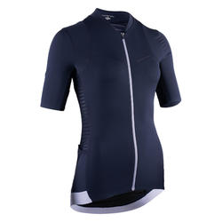 maillot vélo manches courtes RCR femme marine