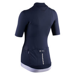 maillot manches courtes velo route Femme VAN RYSEL RCR marine