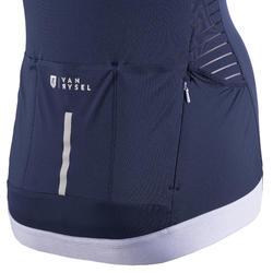 Mouwloos fietsshirt voor dames RCR marineblauw
