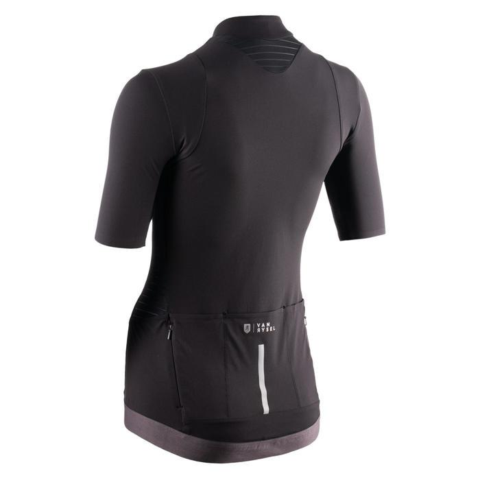 maillot manches courtes velo route Femme VAN RYSEL RCR noir