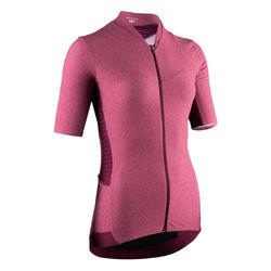 maillot manches courtes vélo route Femme VAN RYSEL RCR rose degradé