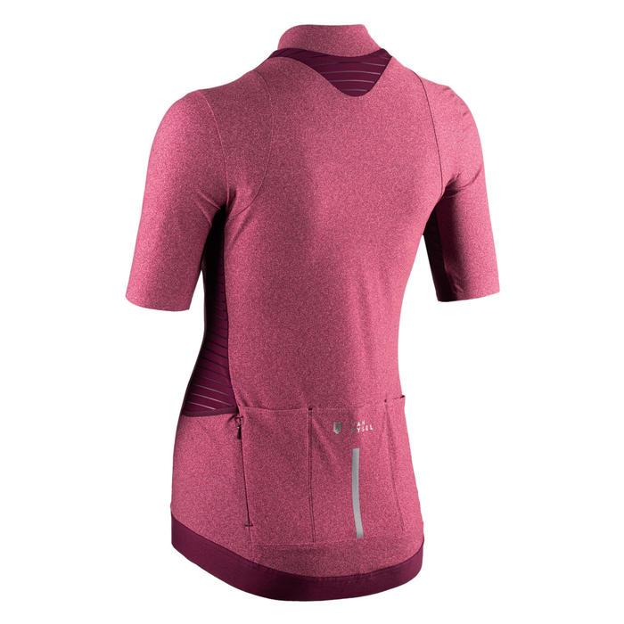 Fietsshirt met korte mouwen voor dames RCR roze kleurverloop