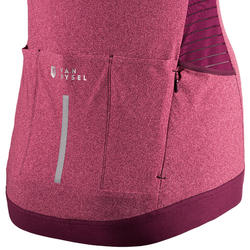 Wielershirt dames RCR met korte mouwen roze/paars