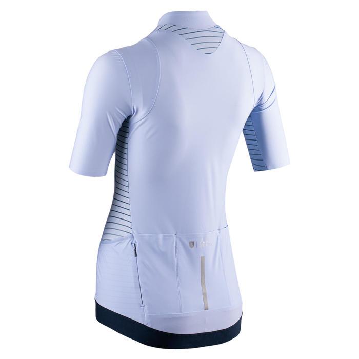Women's Short-Sleeved Cycling Jersey RCR - Blue/Cross